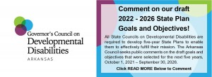 2022-2026 DRAFT State Plan Goals and Objectives Open for Public Comment