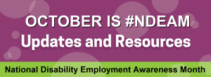 National Disability Employment Awareness Month 2020